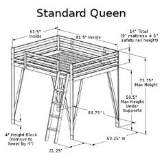 plans to build full size loft bed