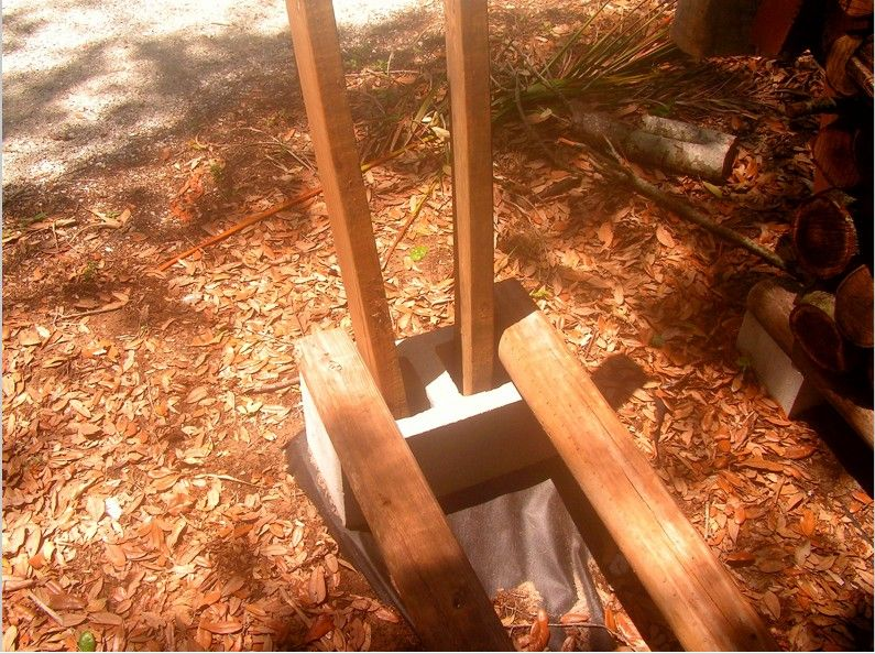 build a firewood rack for stacking